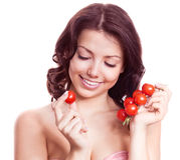 蕃茄妇女 免版税库存照片