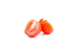 蕃茄孤立白色背景 免版税库存照片