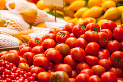 蕃茄市场销售 免版税库存图片
