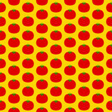 蕃茄无缝的样式 库存照片