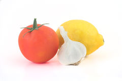 蕃茄柠檬大蒜 库存图片