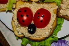 蕃茄橄榄三明治 图库摄影