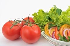 蕃茄沙拉用葱 库存照片