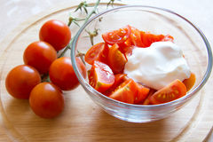 蕃茄沙拉 图库摄影