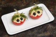 蕃茄用乳酪和莳萝 开玩笑菜单 库存图片