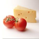 蕃茄用干酪 库存照片