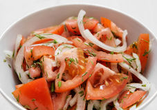 蕃茄用葱 免版税图库摄影
