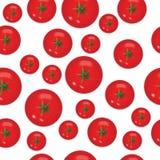 蕃茄的无缝的样式 库存照片