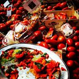 蕃茄蕃茄市场新鲜农产品农夫 库存照片