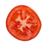 蕃茄部分直接地拍摄了上述 免版税库存图片