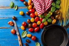 蕃茄鲜美新开胃品种,蓬蒿,意粉, ki 库存图片