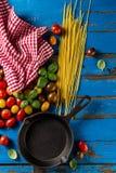蕃茄鲜美新开胃品种,蓬蒿,意粉, ki 免版税库存照片