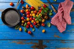 蕃茄鲜美新开胃品种,蓬蒿,意粉, ki 库存照片