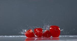 蕃茄,茄属lycopersicum,结果实落在水, 影视素材