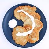 薄煎饼土豆 免版税图库摄影