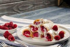 薄煎饼用莓 库存照片
