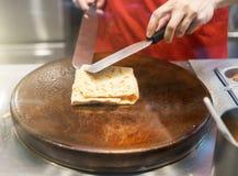 薄煎饼的准备 免版税图库摄影