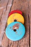 薄煎饼的图片哑铃的 免版税图库摄影