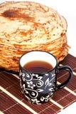 薄煎饼茶 免版税图库摄影