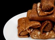 薄煎饼被设置作为塔 免版税图库摄影