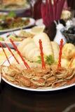 薄煎饼,被充塞的鱼 免版税库存照片