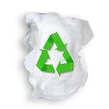 薄纸和回收符号。 库存照片