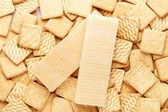 薄脆饼干和奶蛋烘饼 免版税库存照片