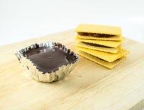 薄脆饼干和巧克力麋 图库摄影