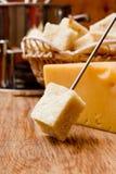 薄脆饼干和干酪溶化奶油 库存图片