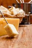 薄脆饼干和干酪溶化奶油 免版税图库摄影