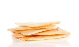 薄脆饼干堆虾 免版税库存图片