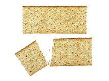薄脆饼干查出的全麦 库存图片
