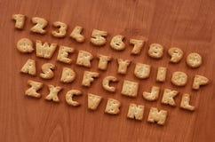 薄脆饼干键盘按钮 图库摄影