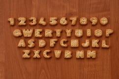 薄脆饼干键盘按钮 库存图片