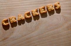 薄脆饼干 可食的信件 免版税库存照片