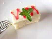 薄荷的蛋糕 免版税库存图片