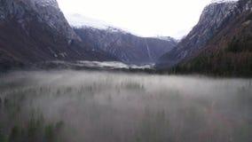 薄雾和雾在挪威 影视素材