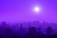 薄雾山紫色 免版税库存图片