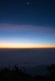 薄雾海在土井Laung城镇Dao - Chiangmai泰国的 免版税库存图片