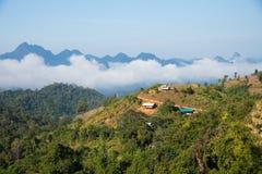 薄雾海在Mae Moei国家公园的 图库摄影