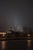 薄雾的堡垒在圣彼德堡 免版税库存照片