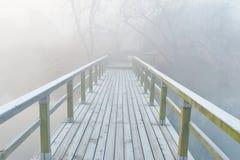 薄雾风景 库存图片