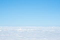 薄雾,云彩,天空 免版税库存图片