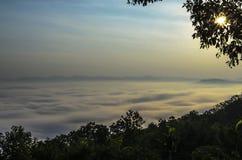 薄雾,泰国海  免版税库存图片