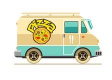 薄饼交付快餐运输的小巴 图库摄影