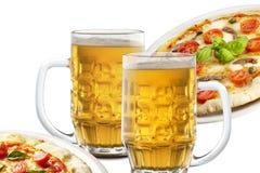 薄饼和啤酒 免版税库存图片