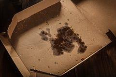 薄饼残余在箱子的 免版税库存照片