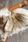 薄饼面团和面包 库存照片