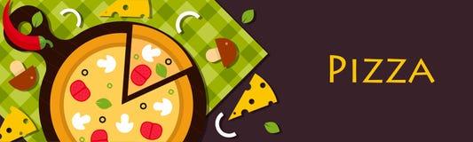 薄饼 力量以上面形式 意大利烹调餐馆 图库摄影