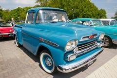 1959年薛佛列亚帕基3100卡车 库存照片